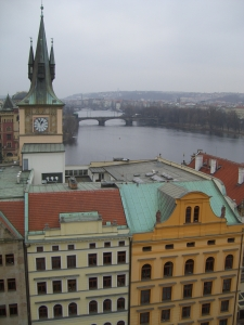 View from Charles Bridge Tower in Prague