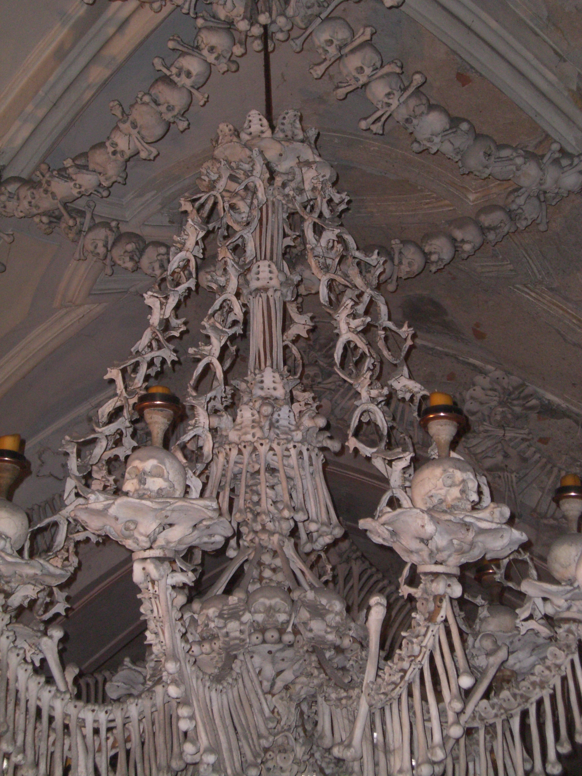 Church of all saints sedlec 8 wowexcursions bone chandelier at sedlec ossuary in czech republic aloadofball Image collections