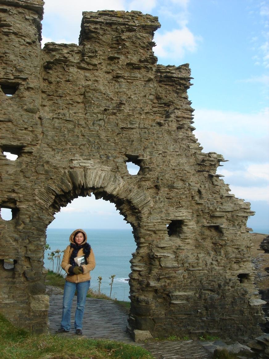 Tintagel Castle Courtyard Wall - Cornwall