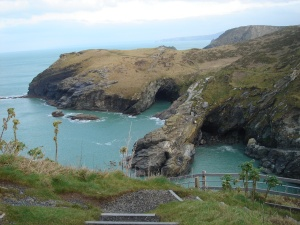 Coastline around Tintagel in Cornwall.