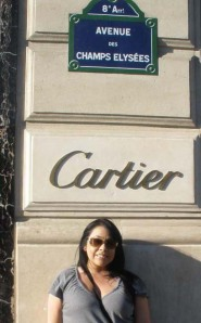 Cartier on the Champs Elysee, Paris