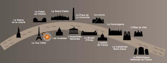 Bateaux Parisens Seine route map