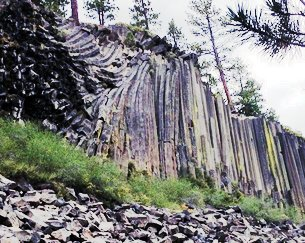 Devil's Postpile a Towering Rack of Basalt