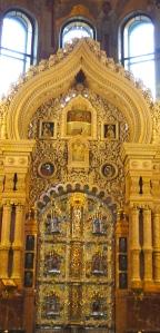 Part of the iconostasis.